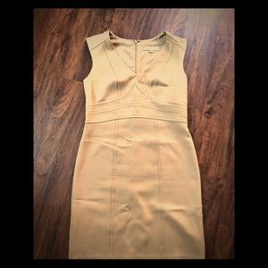 Ann Taylor size 8 tan bodycon dress tan fitted
